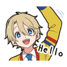 Bilingual Boy - Tray Sticker