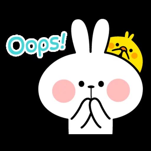 spoilt rabbit simple words - Sticker 7