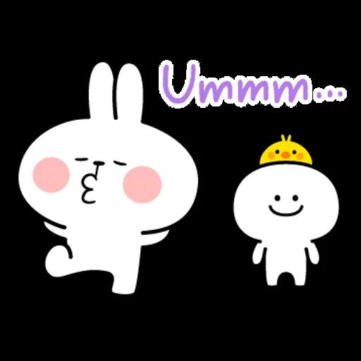 spoilt rabbit simple words - Sticker 13