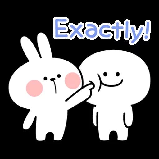 spoilt rabbit simple words - Sticker 9