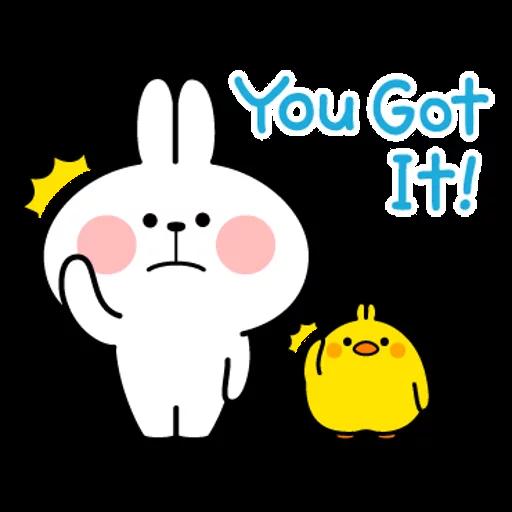 spoilt rabbit simple words - Sticker 6