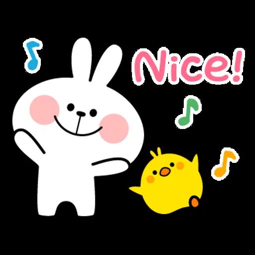 spoilt rabbit simple words - Sticker 28