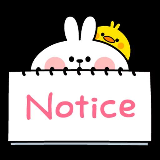spoilt rabbit simple words - Sticker 21