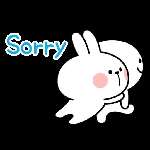 spoilt rabbit simple words - Sticker 20