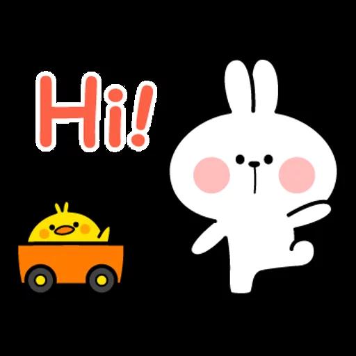 spoilt rabbit simple words - Sticker 1