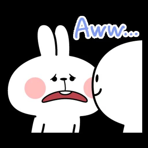 spoilt rabbit simple words - Sticker 17