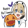 Halloween Costume Boy - Tray Sticker