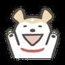 Shibapuppyemoji - Tray Sticker