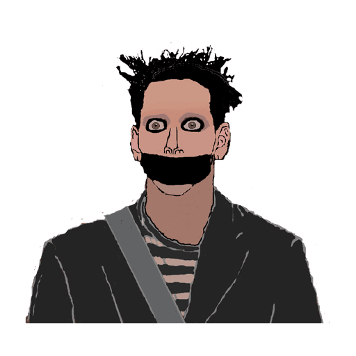tape face - Sticker 3