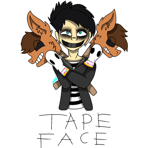 tape face - Sticker 7