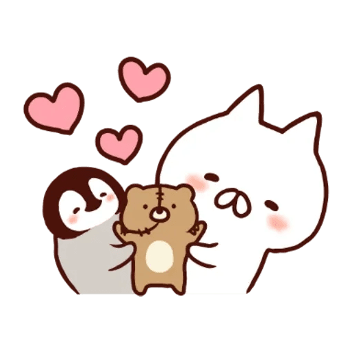 Penguin and Cat : Warm and Cuddy - Sticker 24