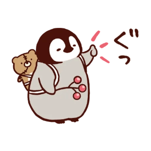 Penguin and Cat : Warm and Cuddy - Sticker 8
