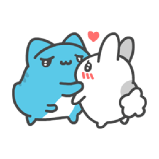 貓貓蟲咖波與兔兔-愛閃閃 - Sticker 24