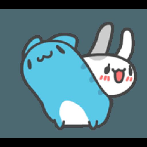 貓貓蟲咖波與兔兔-愛閃閃 - Sticker 21