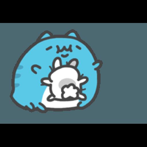 貓貓蟲咖波與兔兔-愛閃閃 - Sticker 8