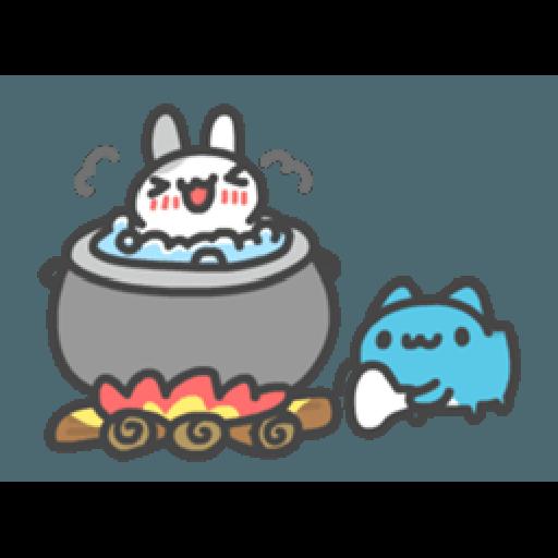 貓貓蟲咖波與兔兔-愛閃閃 - Sticker 3