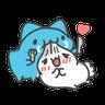 貓貓蟲咖波與兔兔-愛閃閃 - Tray Sticker