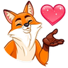 What Does 🔸Foxy🦊 Say❓ - Tray Sticker