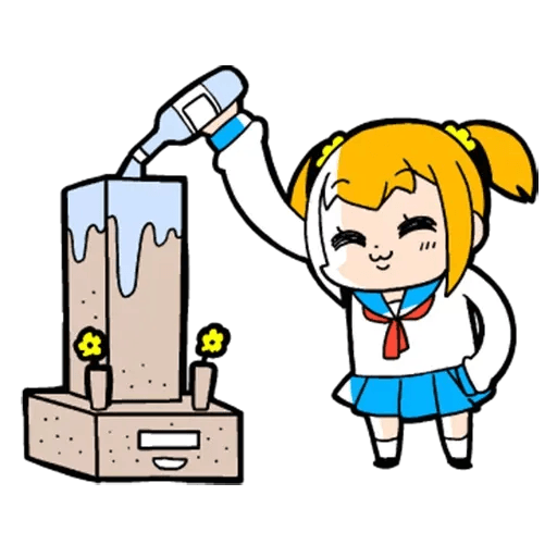Pop team epic 04 - Sticker 8
