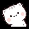 Cutie Cat Chan C1 - Tray Sticker