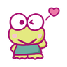KEROKEROKEROPPI Emoji (Love) - 1 - Tray Sticker