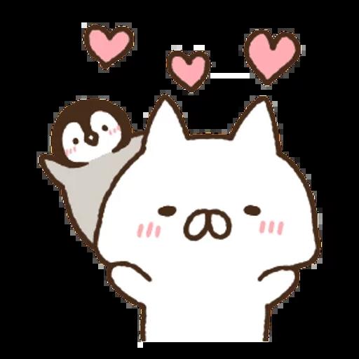 Nekopen mochi - Tray Sticker