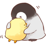 soft and cute chick 02 - Tray Sticker
