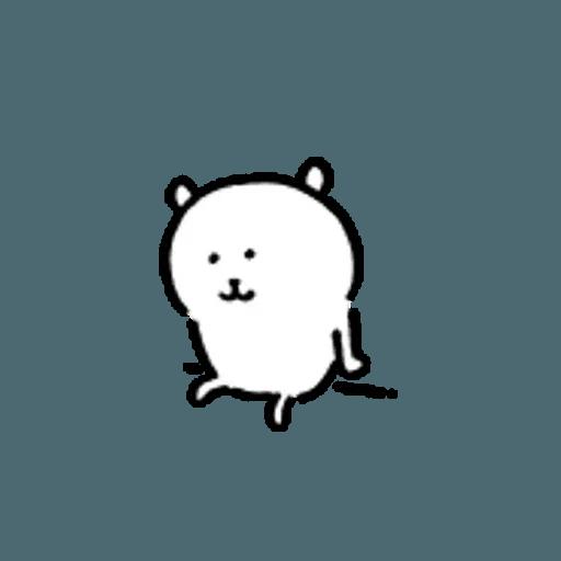 對自己吐嘈的白熊 - Sticker 18