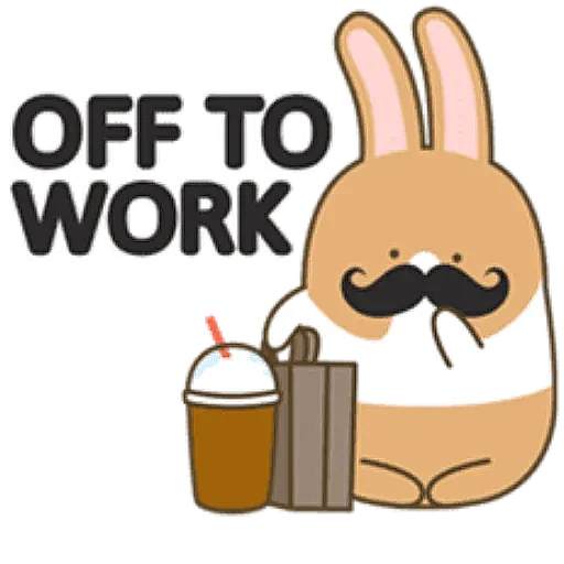 Coffee Rabbit - Sticker 16