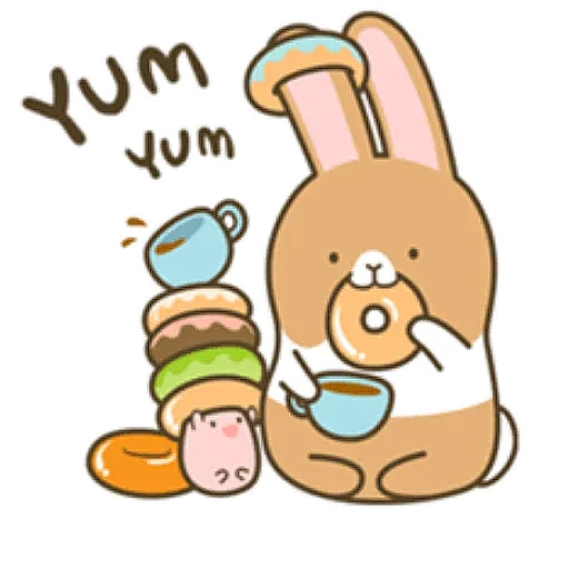 Coffee Rabbit - Sticker 13