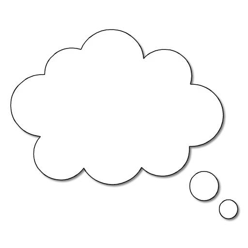 Dialog Clouds - Sticker 5