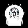 Joke bear 2 - Tray Sticker