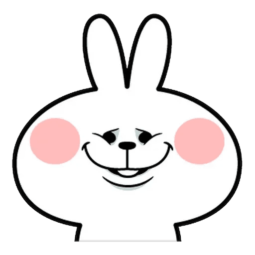 Spoiled rabbit Face 1 - Sticker 30