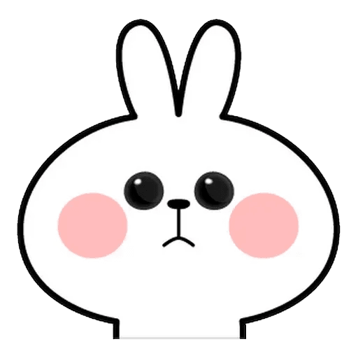 Spoiled rabbit Face 1 - Sticker 2