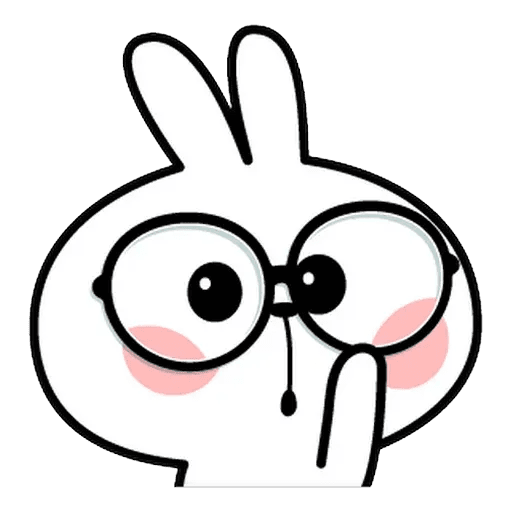 Spoiled rabbit Face 1 - Sticker 26