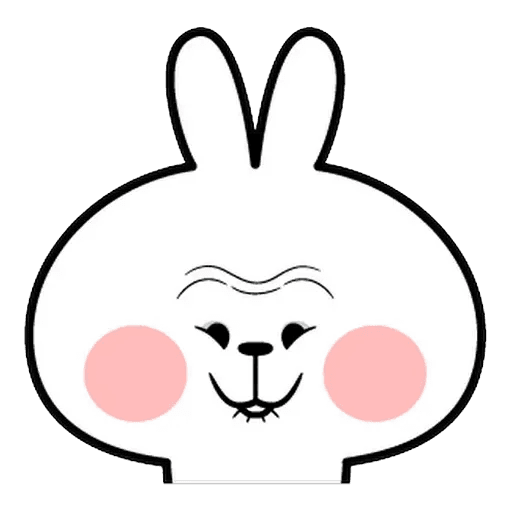 Spoiled rabbit Face 1 - Sticker 29