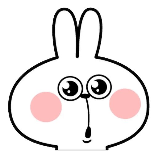 Spoiled rabbit Face 1 - Sticker 23