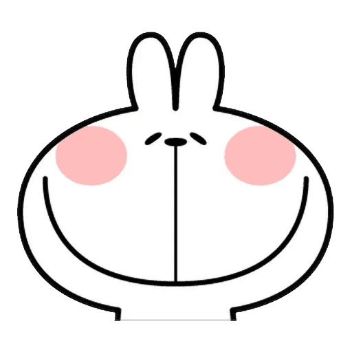 Spoiled rabbit Face 1 - Tray Sticker