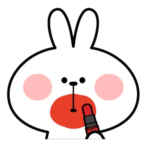 Spoiled rabbit Face 1 - Sticker 11