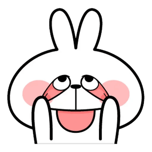 Spoiled rabbit Face 1 - Sticker 27