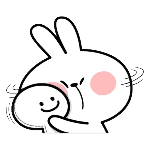 Spoiled rabbit Face 1 - Sticker 16