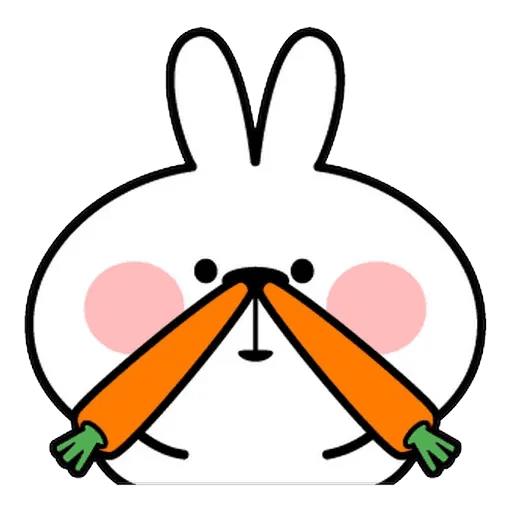 Spoiled rabbit Face 1 - Sticker 8