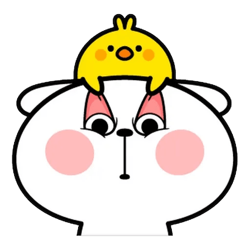 Spoiled rabbit Face 1 - Sticker 28