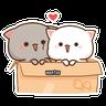 Mochi Cat 3 - Tray Sticker