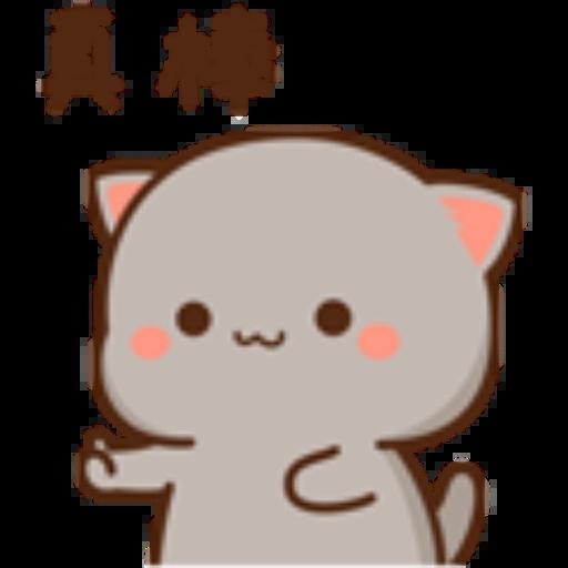 蜜桃猫14 - Tray Sticker