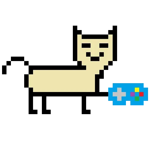 Color Pixel Cat - Sticker 8