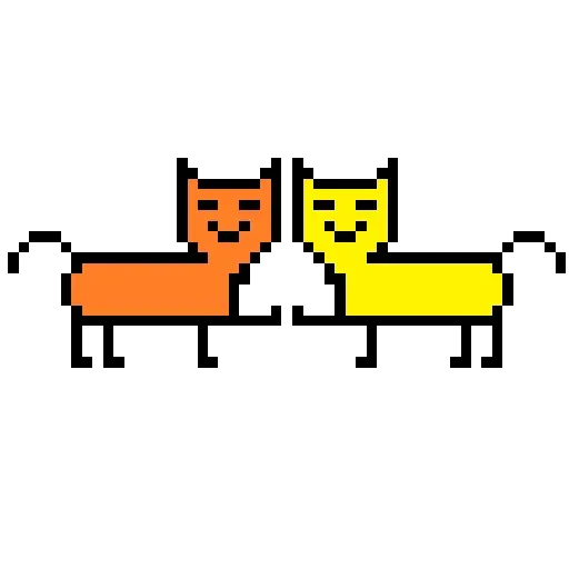 Color Pixel Cat - Sticker 7