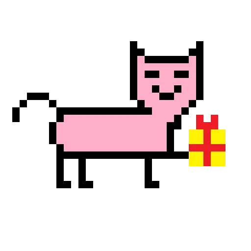 Color Pixel Cat - Sticker 18