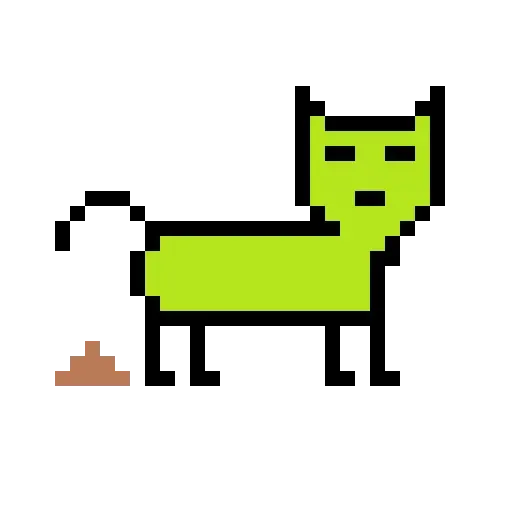 Color Pixel Cat - Sticker 9