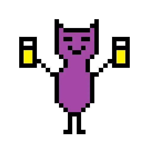 Color Pixel Cat - Sticker 1